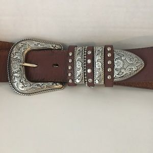 Nocona Leather Western Belt Womens Medium